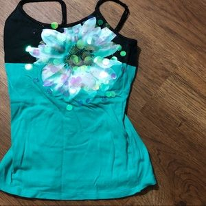 Girls sz 8 Justice spaghetti strap top floral